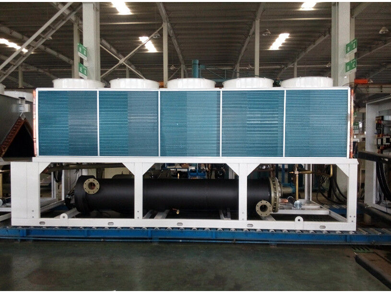 R22 gas Air cooled chiller screw type 390TR with heat pump ASWC-HC390